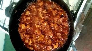 Рагу( жаркое)из кабачков с мясом и картошкой.