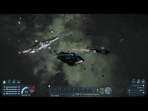 Space Engineers programming - two Draugr drones vs huge titan (it can't harm them)