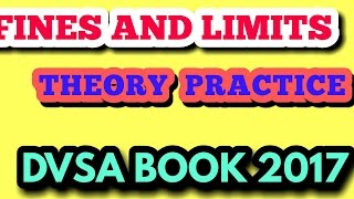 DRIVING  THEORY TEST 2017  PRACTICE    FINES AND LIMITS