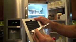 Change A Frigidaire Refrigerator Air Filter Youtube