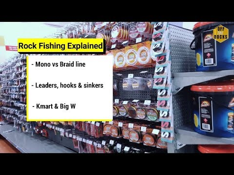 Rock Fishing Explained - Lines, Tackle, Kmart & BigW