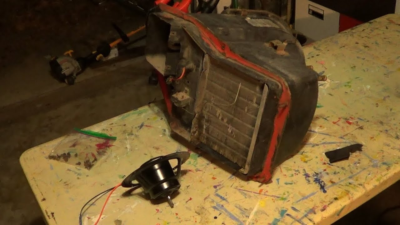 1974 ford f100 heater box and blower motor removal