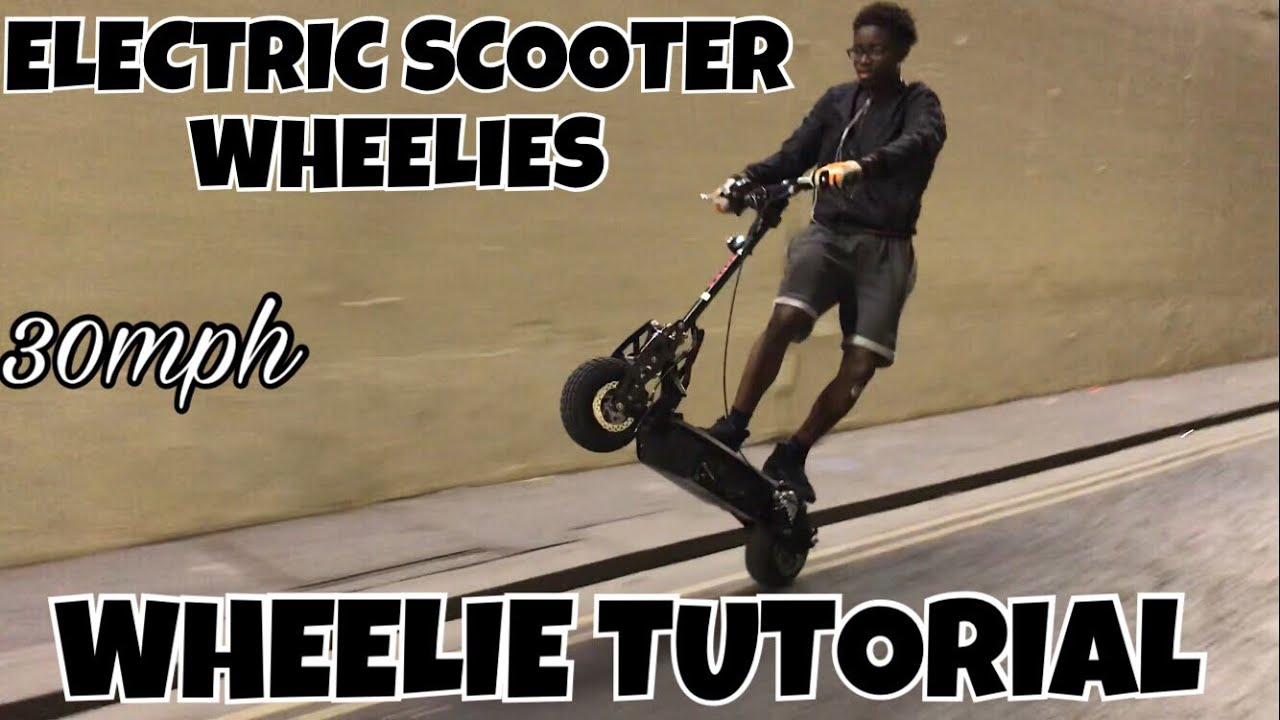 How To Wheelie An Electric Scooter Tutorial