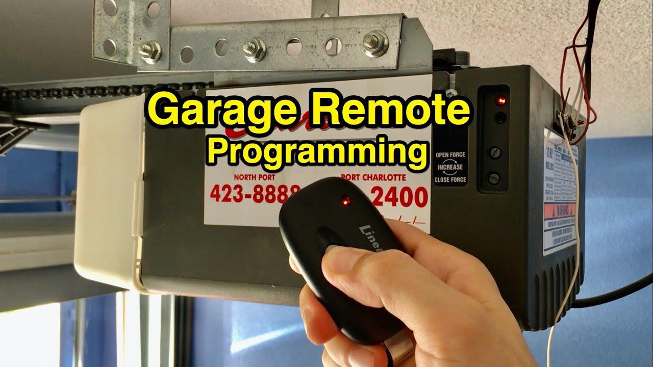 How To Program Extra Or Spare Garage Door Opener Remote Diy Youtube