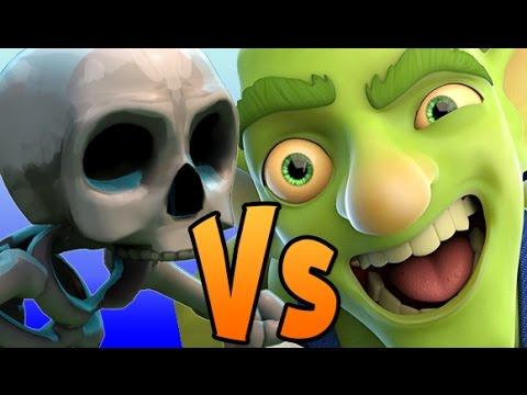 GOBLIN GANG vs SKELETON ARMY ! Goblins vs Skeletons | Clash Royale new OP  card challenge !