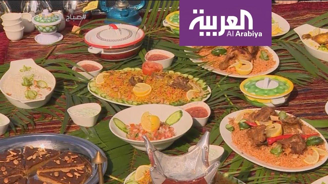 جلسة اكلات شعبية سعودية في صباح العربية Youtube