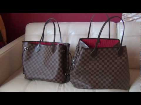 0fc1c2277b311 Louis Vuitton Neverfull GM and MM Review and Comparison - YouTube