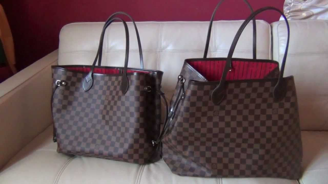 42f450464 Louis Vuitton Neverfull GM and MM Review and Comparison - YouTube