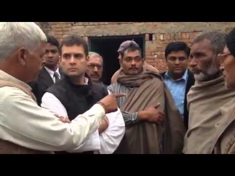 Rahul Gandhi meets victims of Muzaffarnagar riots, Dec 23, 2013 Travel Video