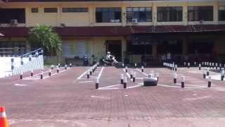 Demo Test Ujian Praktek SIM C, Samsat Kabupaten Malang