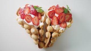 딸기 와플 만들기 Strawberry Waffles R…