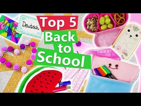Top 5 DIY Back to school deutsch 2017   Ideen für die Schule   Ideen gegen Langweile   Herbstferien