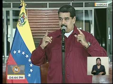 Rueda de prensa de Nicolás Maduro previo a viaje a Cuba el 20 abril 2018