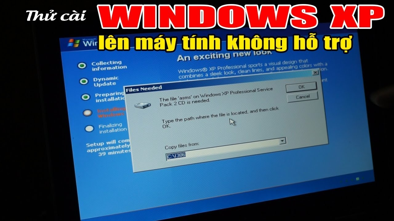 TINHOCONLINE Thử cài windows XP lên máy tính không hỗ trợ và nhận kết quả