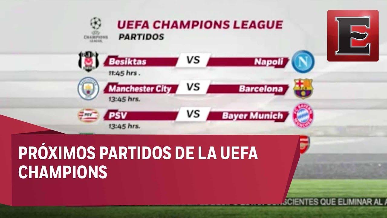 Proximos partidos champions