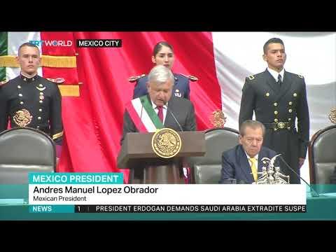 Lopez Obrador takes office as Mexican president