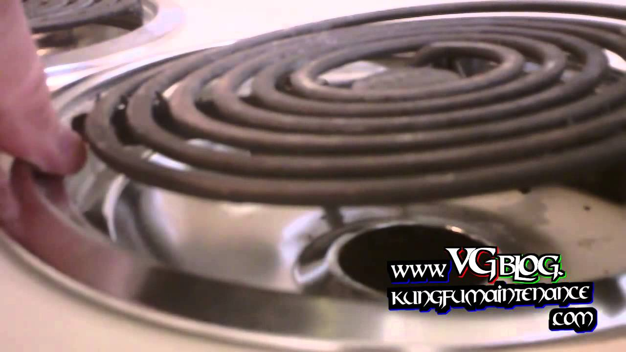 how to fix or secure loose electric range hard wired surface burner elements [ 1280 x 720 Pixel ]