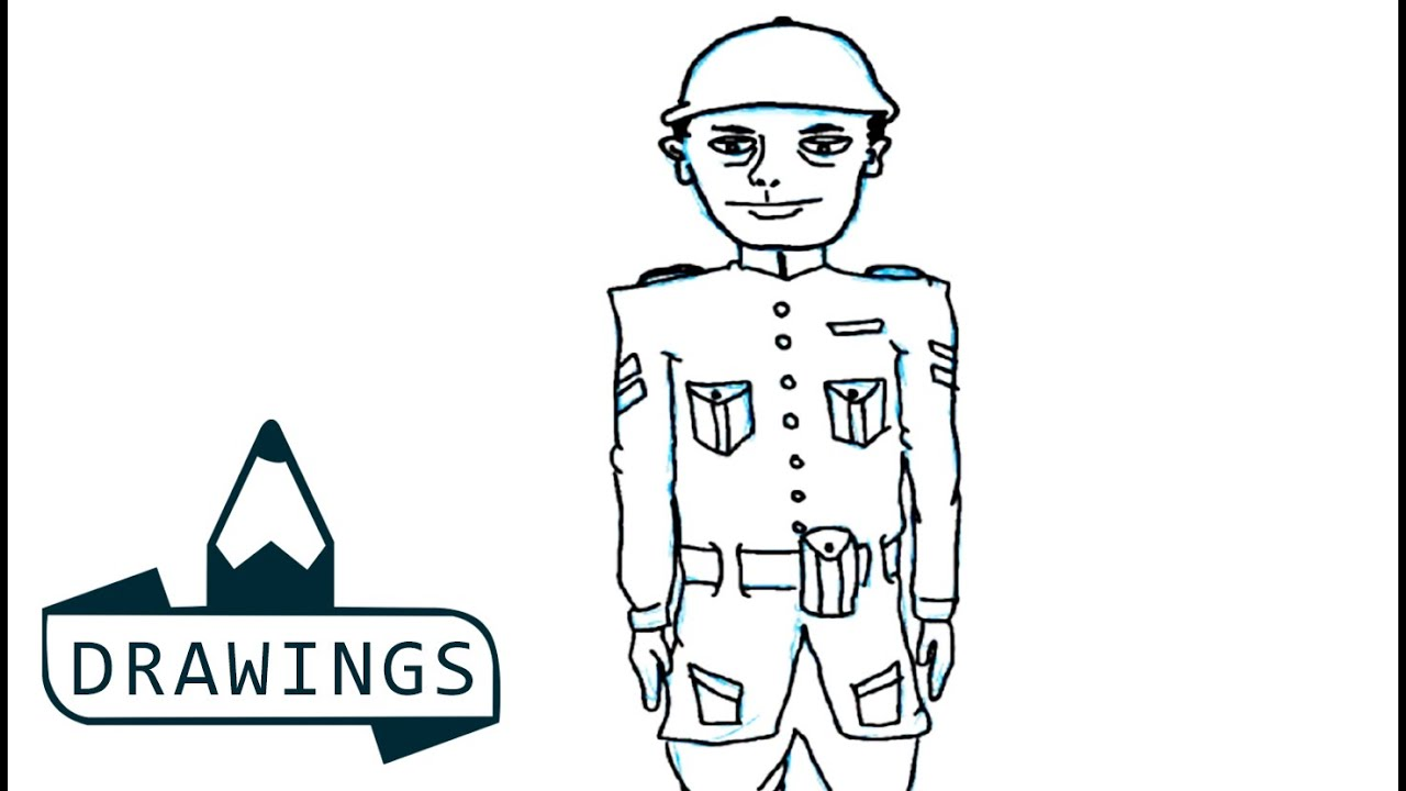 Speed Drawing : How to draw a soldier ( Basic and simple) | For kids
