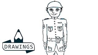 Speed Drawing : How to draw a soldier ( Basic and simple)