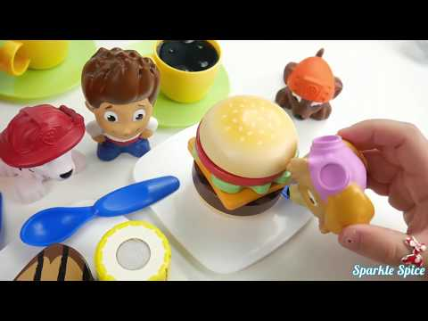 Paw Patrol Kitchen Faucet Stovetop Playset with Water Pump and Cooking Dinner for Kids Toys