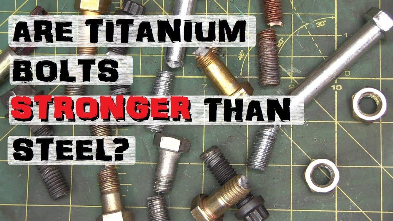 Busting Nuts, Exotic Screws | Titanium, Inconel, Bronze