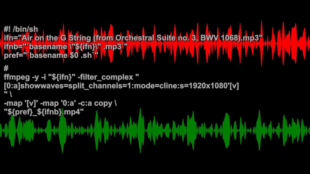 showwaves=split_channels=1:mode=cline' — ffmpeg examples