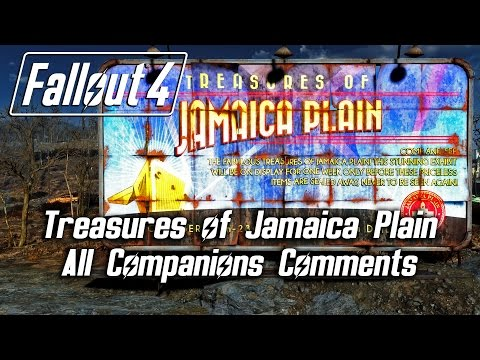 Fallout 4 - Treasures of Jamaica Plain - All Companions Comments (Preston emotes!)