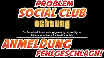 😩 ROCKSTAR Social Club Problem Anmeldung nicht möglich Spielservice nicht verfügbar GTA 5 so gehts☝