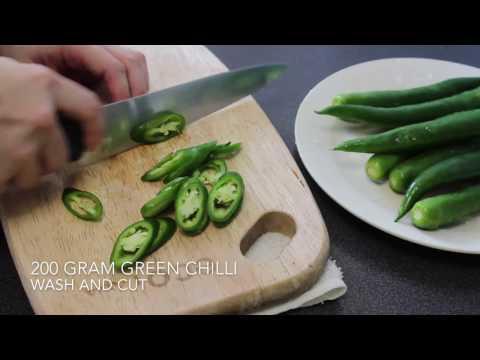 How to Make : Chilli Pickle | Cara Buat : Cili Jeruk