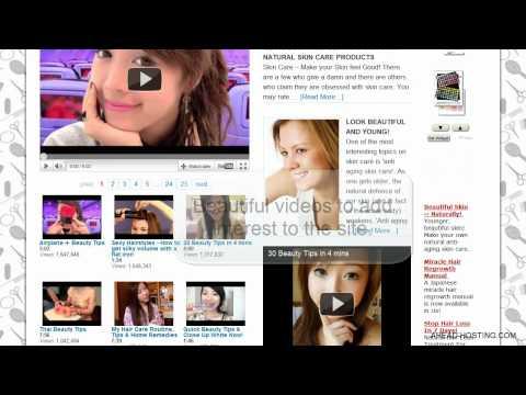 Beauty care website – Turnkey Website Design – Earn money with affiliate marketing!