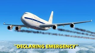 Engine Flameout At 39,000 Feet! Flight Simulator X (Multiplayer)