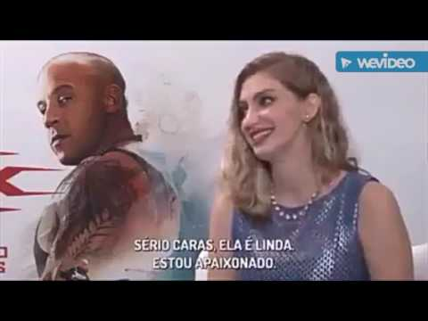 Vin Diesel uncomfortable interview with Brazilian YouTuber Carol Moreira