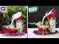 how to make  waterfall showpiece waste coconut shell   Best out of waste   Artkala 288