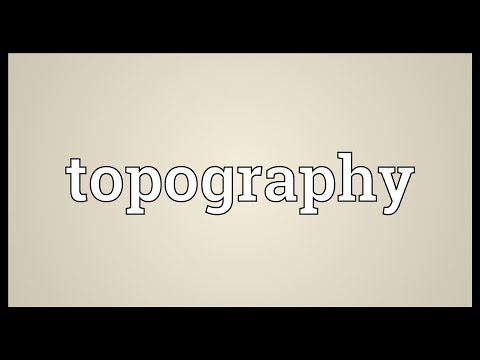 Topography Meaning