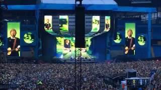 ed sheeran live at etihad stadium in manchester may 25 2018
