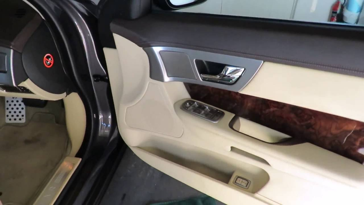How To Remove Jaguar Xf Door Trim Panel Youtube