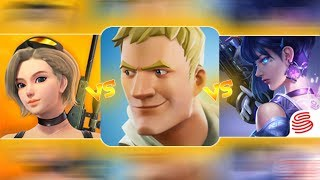 🔥 CREATIVE DESTRUCTION VS FORTNITE VS CYBER HUNTER 🔥 COMPARISON - The Best Series EP-9