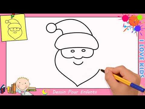 Comment Dessiner Un Pere Noel Facilement Etape Par Etape