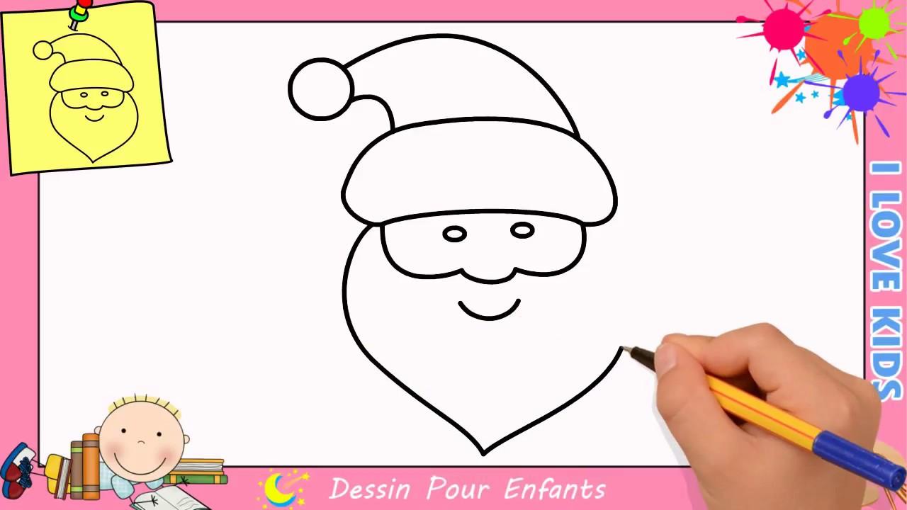 Comment Dessiner Un Pere Noel Facilement Etape Par Etape Pour Enfants 3 Youtube