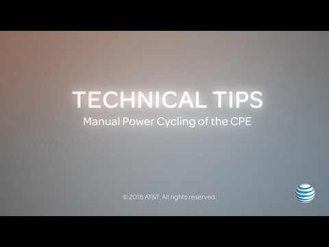 Technical Tips: When To Manually Power Cycle Customer Premises Equipment