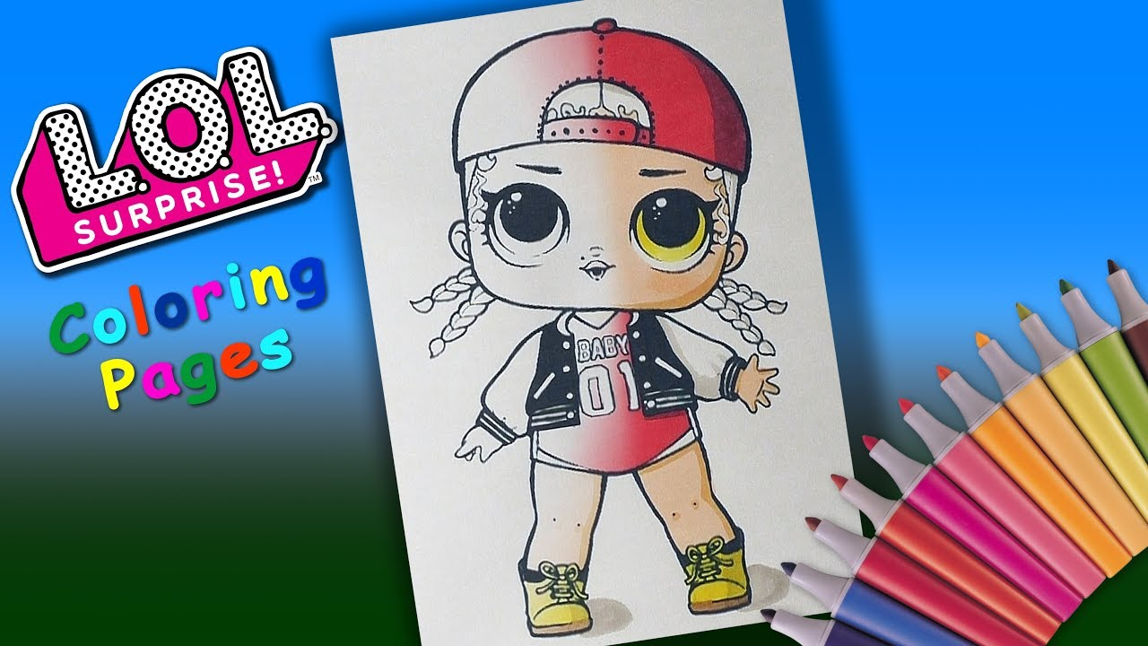 mc swag coloring page for girls. lol surprise doll