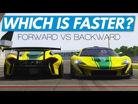 Forza 6│Forward Vs Backward Challenge: Which Is Quicker? (McLaren P1 GTR, Silverstone)