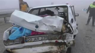Yoğun Sis Kazayı Beraberinde Getirdi: 2 Yaralı
