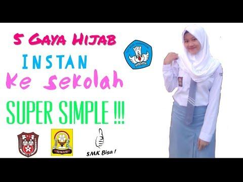 Cara Memakai Hijab Segitiga Untuk Sekolah Baru