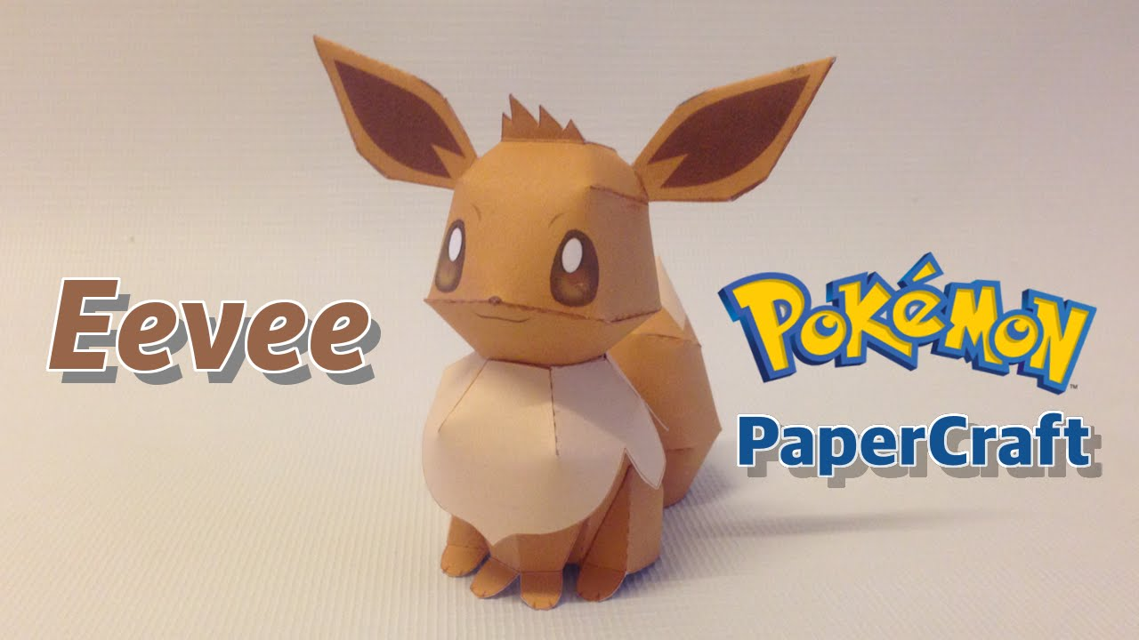 How To Make Eevee Papercraft From Pokemon Go