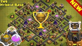 Clash Of Clans ♦ BEST TH9 HYBRID BASE ♦ NEW UPDATE BOMB TOWER! ♦ Town Hall 9 Farming | Trophy Base