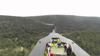 T-Copter Rear View doing flips and rolls in Avila Spain GoPro 3 Black Edition
