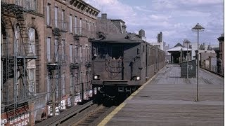 MYRTLE AVENUE EL. BKLYN in 50's &60's MOVIE FOOTAGE