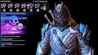 SHADOW OF WAR - UNIQUE ARCANE TALION ENFORCER OVERLORD DIFFICULTY NEMESIS