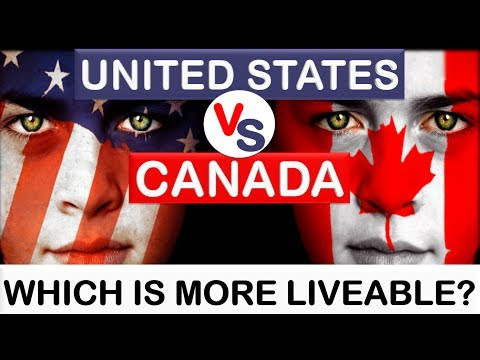 United States (USA) vs Canada - Which country is more liveable? (Animated)
